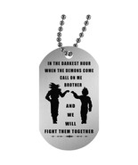 To My Brother dog tag necklace chain - Dragon ball fan birthday gifts - $19.75