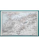 WEST ALGERIA East Morocco Gibraltar Southern Spain - 1911 BAEDEKER MAP - $12.60