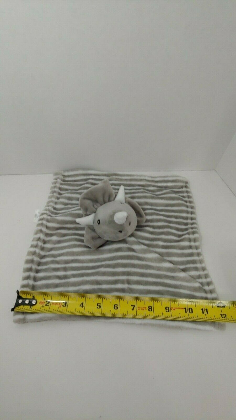 Primary image for Lila & Jack gray white stripes striped baby Security Blanket dinosaur NWOT NEW