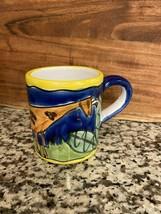 Handpainted Starbucks Company Mug With Giraffe Made in Italy - $7.99