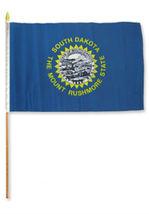 "12x18 12""x18"" State of South Dakota Stick Flag wood Staff - $18.00"