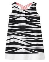 Gymboree Size 8 Animal Party Zebra Print Dress With Peach Braided Straps... - $11.29