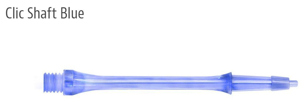 Harrows CLIC System set of 3 Dart Shafts Stems - 23 mm - Short - Blue