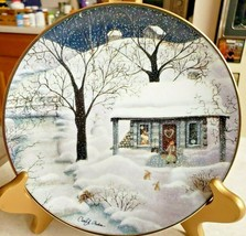 "Carol Endres Franklin Mint Collector Plate ""Moonlight Visitors"" Limited ... - $23.38"