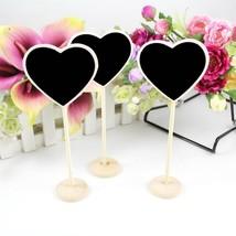 OurWarm® Mini Wood Chalkboard Blackboard Wooden Card Holder Table Number... - $6.69