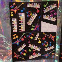 90s Lisa Frank Incomplete Sticker Sheet Pianos Ballet Shoes Hearts Guitars Muaix image 4