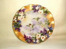 "Bradford Exchange 1999 CROWN JEWELS Hummingbird Plate Artist Lena Liu 8"" - $30.00"