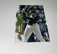 2020 Topps Holiday LUIS ROBERT SP RC Rookie HW2 Candy Cane Bat White Sox  - $42.06