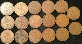 50 Great Britain Pennies 20th Century -- Various Coins - $29.95