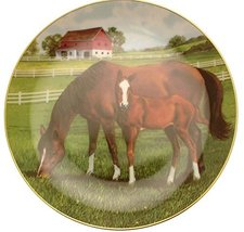 Danbury Mint Morning on The Farm Horse Plate by Donald W Patterson HJ212 - $31.84