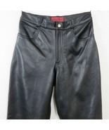 Nicola Berti Leather Pants Size 6 High Waist Straight Leg Dress Motorcyc... - $79.15
