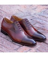 New Handmade Men classic toe cap oxford leather shoes , man's formal shoes - $149.99+