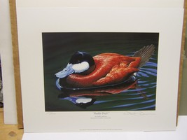 Iowa 2003/2004 Duck Stamp Print Neal Anderson Ducks Unlimited Signed  - $28.46