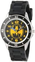 Batman Kids' Analog Watch with Silver-Tone Casing, Black Bezel, Black St... - $15.18