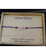 Unwritten Sterling Silver Bow Bracelet Purple Rope Friendship - $16.65