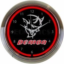 "Auto Dodge Demon Light Garage Neon Clock 15""x15"" - $72.00"