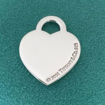 Tiffany & Co Sterling Silver Heart Tag Pendant Charm - $99.00