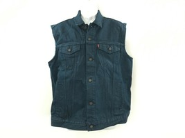 Men's Levi's sleeveless blue jean denim vest jacket size M New tags - $44.99