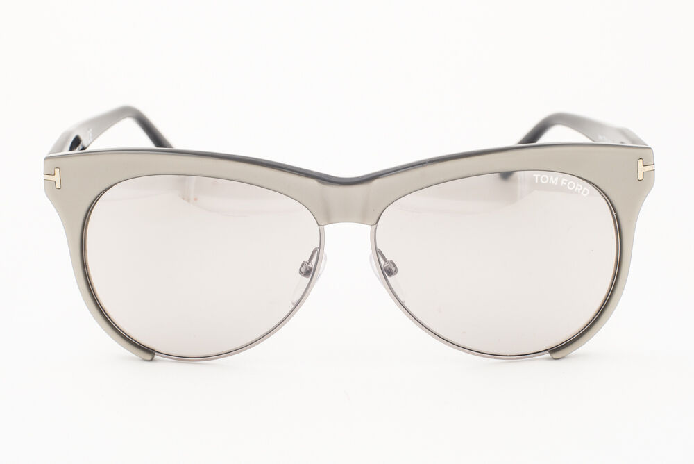 Tom Ford Leona Gray / Gray Mirror Sunglasses TF365 38G