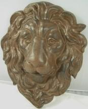 Cast Iron Lion Head Hanging Garden Plaque - $31.69