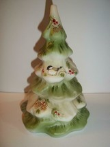 Fenton Glass Chickadee Bird Pinecone Christmas Tree Figurine Ltd Ed #32/... - $183.82