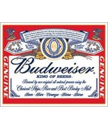 Budweiser King of Beers Classic Logo Tin Sign Reproduct - $5.94