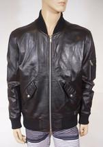 Slate Stone Men Black Leather Bomber Scott Jacket Coat XL XXL 2XL - $119.99