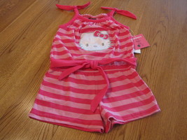 Girls Hello Kitty Romper 4 pink CER NWT HK59051 youth NEW ^^ - $8.35