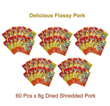 60 Pcs x 8g Dried Shredded Pork Food Snack Appetizer Flossy Pork Chinese... - $39.59