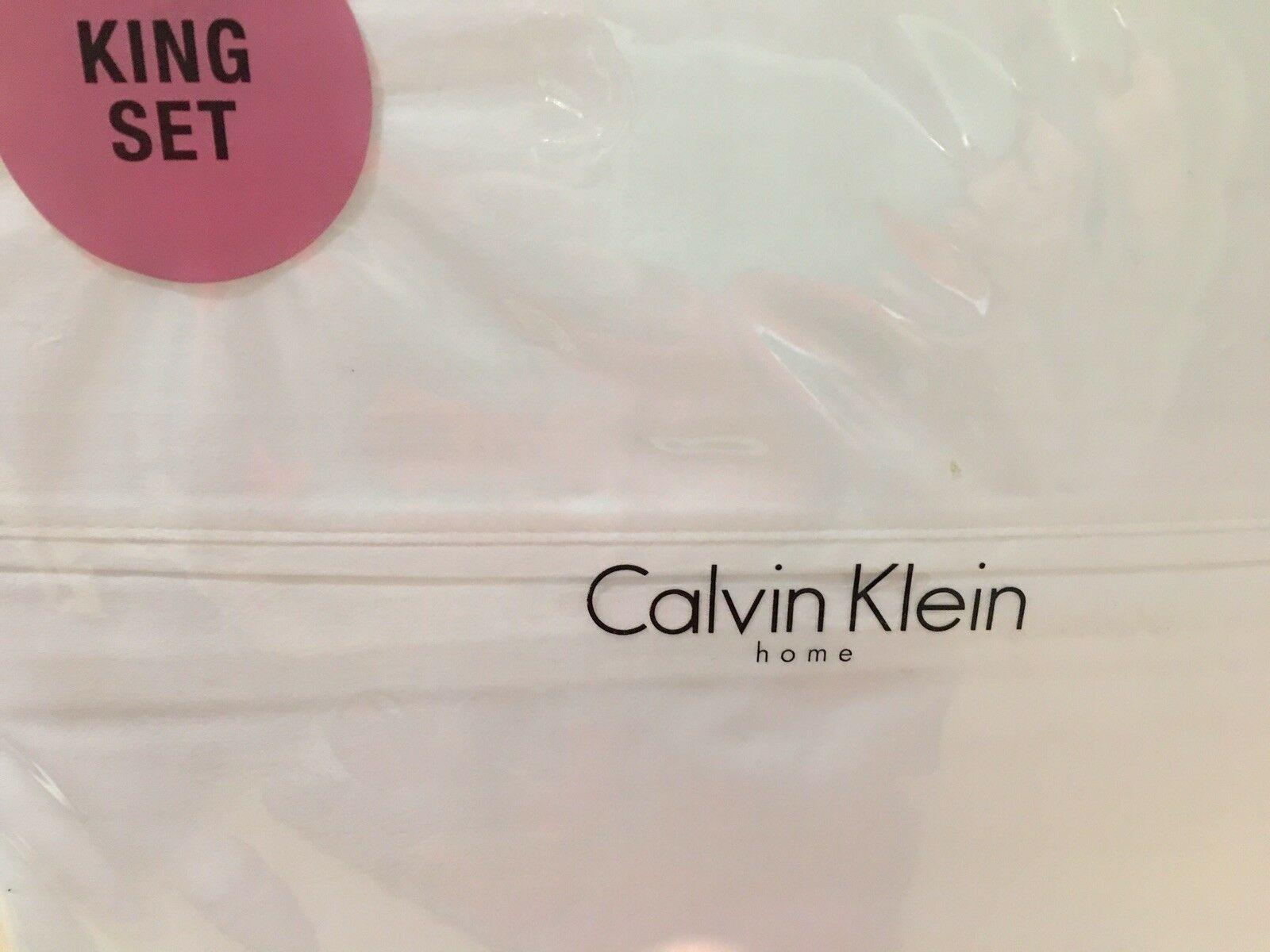 "CALVIN KLEIN HOME ""SAND"" 4pc  QUEEN  SHEET SET  SWEN IN  USA  BNIP - $187.15"