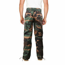Men's Camo Military Tactical Work Combat Army Slim Fit Twill Cargo Pants image 7