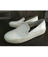 Sam Edelman Becker Slip On Sneakers Womens Sz 5 M White Croc Print Loafe... - $25.19