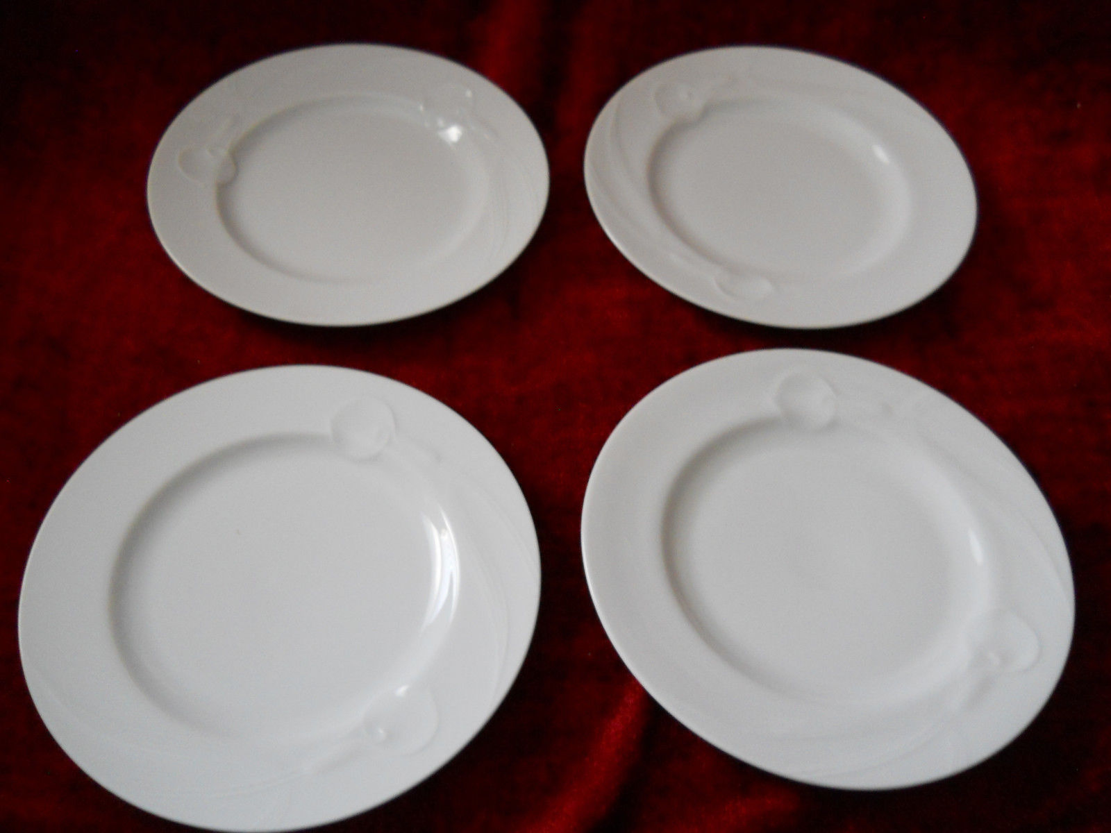Primary image for Mikasa Classic Flair white set of 4 salad plates