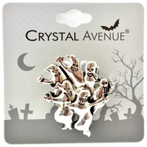 Crystal Avenue Silver-Tone Halloween Ghost Pin Brooch image 1