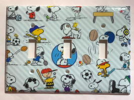 Peanuts Snoopy sport Toggle Rocker Light Switch Outlet wall Cover Plate decor image 7