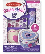 Melissa & Doug Created by Me! Decorate-Your-Own Wooden Heart Box Craft Kit - $6.92
