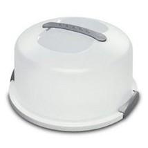 Cake Server Carriwe Dessert Pastries Storage Keeper Holder Dome Lock Han... - $32.08