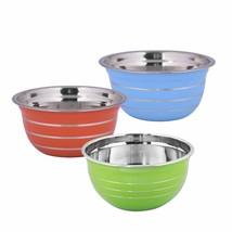 Kosma Set of 3 Premium Stainless Steel Deep Mixing Bowl   Salad Bowl in ... - €20,06 EUR