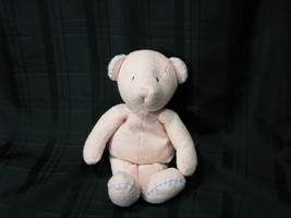 "MARY MEYER PINK BLUE STITCHED BEAR 11.5"" STUFFED PLUSH BEAN BAG TOY - $56.42"
