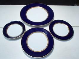 4 Fitz & Floyd Cobalt Rennaisance Blue Plts ~ dinr, salad, b&b and berry... - $34.95