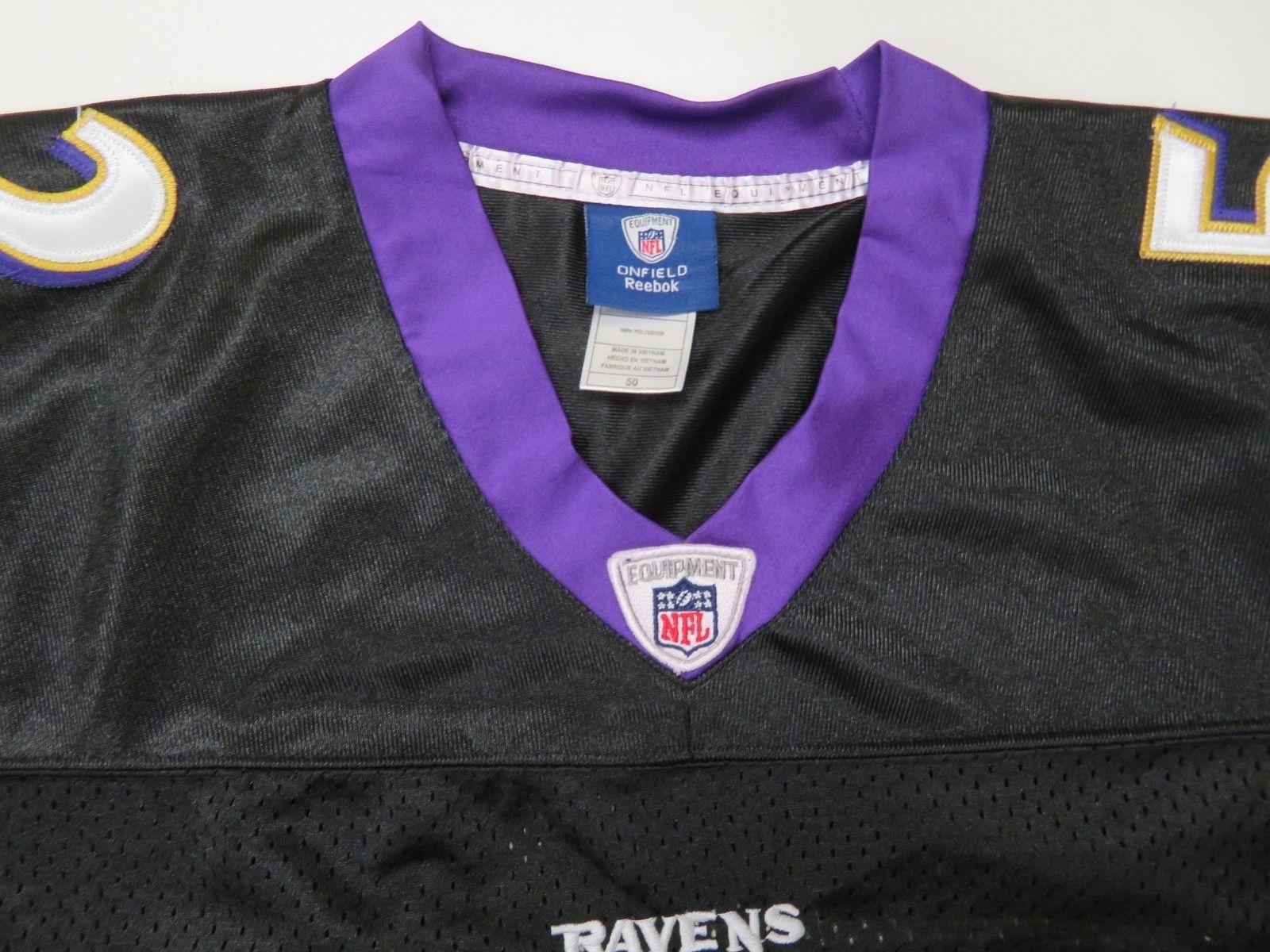 9a6ec37b4 Reebok Baltimore Ravens  52 Ray Lewis Jersey Sz 50 Black Sewn Stitched