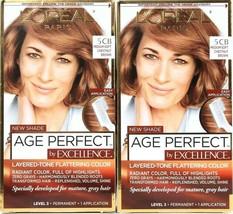 2 L'oreal Paris Age Perfect Excellence 5 CB Medium Chestnut Brown Permanent Dye - $19.99