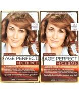 2 L'oreal Paris Age Perfect Excellence 5 CB Medium Chestnut Brown Perman... - $19.99