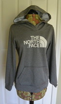 The North Face Womens Hoodie Pullover Sweatshirt Logo Gray M - $24.95