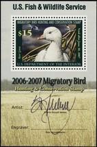 RW73b Mint NH XF Duck Souvenir Sheet With Just Artist Signature - Stuart... - $49.95