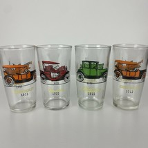 Set Of Four Vintage Anchor Hocking Collectible Antique Car Glasses - $18.69