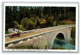 Vintage Mid Century Postcard Eagle Creek Bridge Oregon UNPOSTED - $8.88