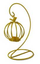 Metal Butterfly Yellow Oil Burner Aroma Fragrance Melts Candle Gift Pres... - $18.01