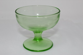 1930s Green Depression Glass Plain Sherbert Cup Vaseline Uranium NO crac... - $9.99