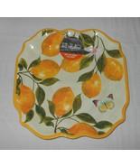 "4 Pc IL Mulino Melamine Dinner Plates 11"" Lemons Citrus NWT FREE SHIPPING - $54.44"